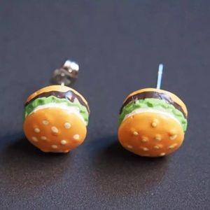🆕 Hamburger Stud Earrings